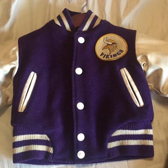 sports shoes 3d3b6 cdabe Vintage letterman jacket Minnesota Vikings 3T
